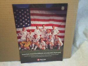 2000 U.S.WOMAN'S SOCCER TEAM Texaco usa flag AD PRINT,dig for the gold,olympics