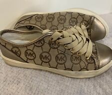 Michael Kors Women's Sneakers Athletic Tennis Shoes Gold Size 7 1/2 7.5