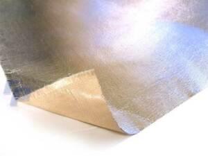 selbstklebende Hitzeschutzmatte 50x100 cm, 0,75 mm, Hitzeschutzfolie Aluminium