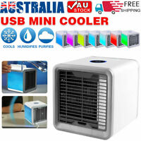 NEW Portable Mini Air Conditioner Rechargeable Indoor Cooling Desktop Cooler Fan