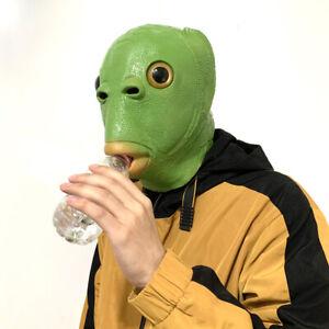 Party Make Fun Funny Cosplay Headgear Alien Emulsion Mask Green Fish Head Mask