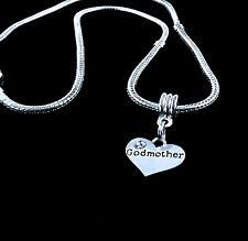 Godmother Necklace God mum godmom charm chain necklace  best jewelry gift