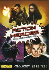 ACTION HEROES - WATCHMEN+G.I.JOE+STAR TREK - BOX 3 DVD (NUOVO SIGILLATO)