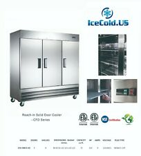 Reach In Solid Three Door Commercial Refrigerator Cfd-3Rr-E-Hc Stainless Cooler