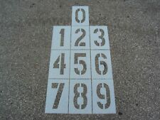 """12"""" x 6"""" Number Stencils for a Parking Lot Flexible ReUsable 1/16"""" Ldpe Material"""