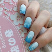 Nail Art Stamping Plate  Image 1Pc  Stamp Template Harunouta L045