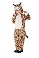 Toddler Giraffe Costume, Brown, with Hooded Jumpsuit -  (Size: Todd COST-UNI NEW