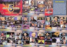 BABYLON 5 THE COMPLETE 2002 RITTENHOUSE COMPLETE BASE CARD SET OF 120 TV