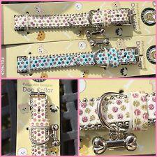 Job Lot 8 Pet London Glitter Dog Collars. 4 Med, 4 Small. Wholesale, Car Boot