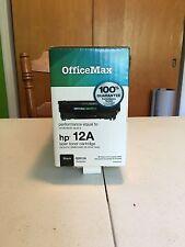 officemax HP 12A Black LaserJet Toner Cartridge Q2612A