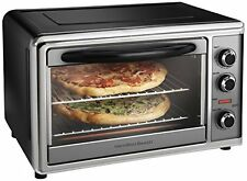 Toaster Oven Convection Rotisserie 5 Lbs Chicken 2 Pizza Bakes Broil Timer NEW
