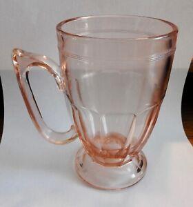 Vintage Pink Beautiful Large Handled Stein/Mug - Not sure of the pattern