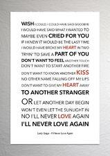Lady Gaga (A Star Is Born) - I'll Never Love Again - Colour Print Poster Art