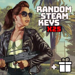 x25 Random Steam Keys Video Game PC Global Fast Delivery + Bonus [Region-Free]