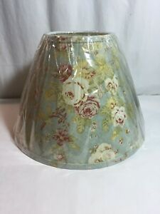 """NEW Homestead Shoppe EMPIRE Lamp Shade Floral Linen Pattern 14"""""""