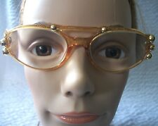 Vintage Christian Lacroix Gold Studded Eye Glasses #7363 31 Frame Only