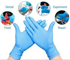 Household Box Of Gloves Laboratory Latex Nitrile Latex XL Blue Durable