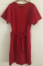 Ladies Red Work Overall / Uniform Size 18