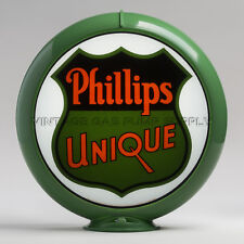 "Phillips Unique 13.5"" Gas Pump Globe w/ Green Plastic Body (G161)"