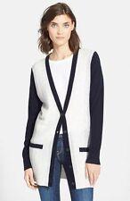 NEW Vince Color block Cashmere Button Up knit Cardigan XL
