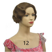 20s Womens Retro Short Finger Wave Curly Wavy Pinup Wigs Halloween Cosplay Wig
