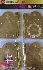 30 Luxury Christmas Gift Tags - Gold