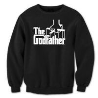 The Godfather Funny  Newborn  Baby  Baptism  Gift Black Crewneck Sweatshirt