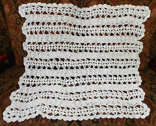Handmade Crochet Baby Blanket Afghan White Shell Lacy New Very Soft Shower Gift