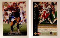 Heath Shuler Signed 1995 Upper Deck #91 Card Washington Redskins Auto Autograph