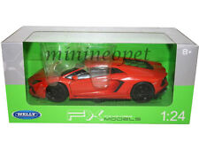 WELLY 24033 LAMBORGHINI AVENTADOR LP700-4 1/24 DIECAST MODEL CAR ORANGE