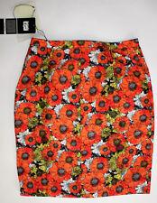 ASICS Onitsuka Tiger Women's XS Orange White Skirt Floral Vintage Retro Zip New