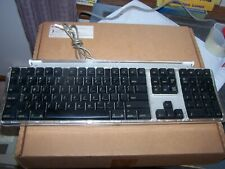 Macintosh Apple Pro Silver/Black USB Full Sized Wired Keyboard M7803
