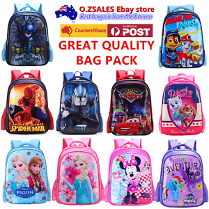 Kids backpack school bag Avengers spiderman Mcqueen cars Batman Starwars