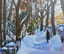 Shabbat Mile End, 8x10, Oil , Darlene Young Canadian Artist