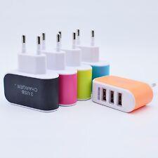 2A Dual 3Ports USB Netzteil Adapter Ladegerät Netzstecker für Universal Phone