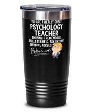Funny Trump Psychology Teacher Teacher Gift Tumbler Mug 20oz Black Stainless Vac