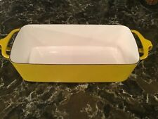 New ListingVintage Dansk Kobenstyle France Yellow Enamel Loaf Pate Rectangular Baking Pan
