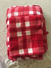 EUC Red/white Plaid Twin Sheet Set
