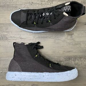 Men's Converse Chuck Taylor All Star Crater High Size 7 Black Recycled Sneaker