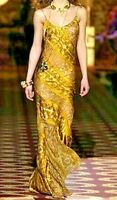 Roberto Cavalli 2004 Runway Long Maxi Brocade Gown Dress IT 42 44 US 6 8  MEDIUM
