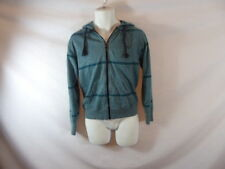 Men's BILLABONG Solid Teal Full Zipper Front Hoodie - Size S