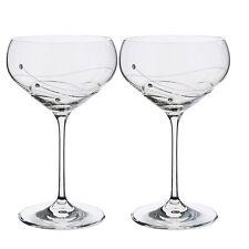 Dartington cristallo Glitz Champagne Saucer Coppia