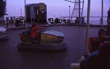 KODACHROME 35mm Slide Amusement Park Bumper Cars Ride Cute Girl Boy People 1963!