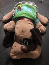 "1985 Pound Puppy Stuffed Animal 18"" Plush Brown w/ Black Spots Backpack Collar"