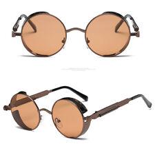 Vintage Steampunk Gafas De Sol Polarizadas Retro Fresco Redondo Gafas Lentes Espejados