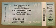 Lil Wayne Ticket 08/30/09 Detroit