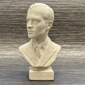 "Rare 1953 Prince Philip Bust - Chalk Plaster - HRH Duke Of Edinburgh - 7"" Approx"