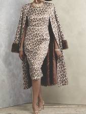 sz 6 Roxxy Jacket Dress animal print church wedding special occasion Ashro new