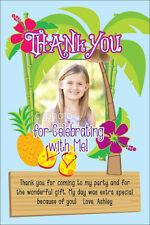 LUAU TROPICAL THANK YOU CARD Invitation Printable 1st Birthday Party Hawaiian