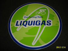1 AUTHENTIC LIQUIGAS PRO CYCLING TEAM STICKER / DECAL #3 AUFKLEBER